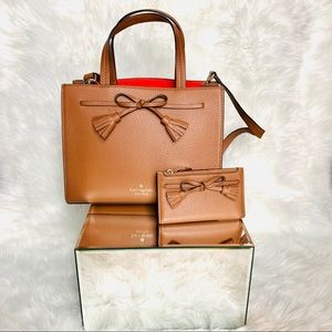 kate spade Bags - Kate Spade bundle set gingerbread color bags💕